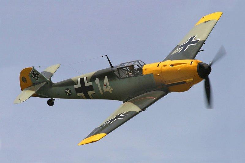 Messerschmitt Bf.109 - самый массовый истребитель Второй мировой войны.
