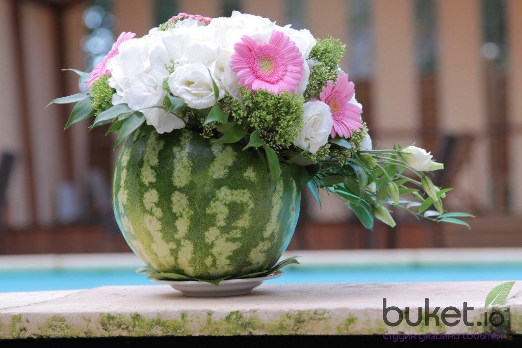 Красивые композиции из живых цветов в сад, букеты купить