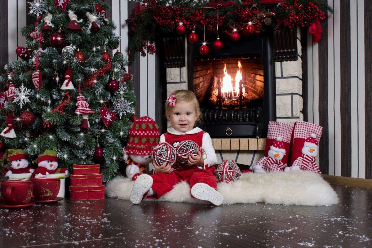 новогодняя фотосессия у домашнего камина читателями