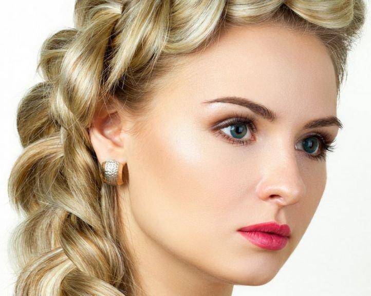 Свадебный макияж для голубых глаз и русых волос - свадебный макияж для зеленых глаз с яркой помадой