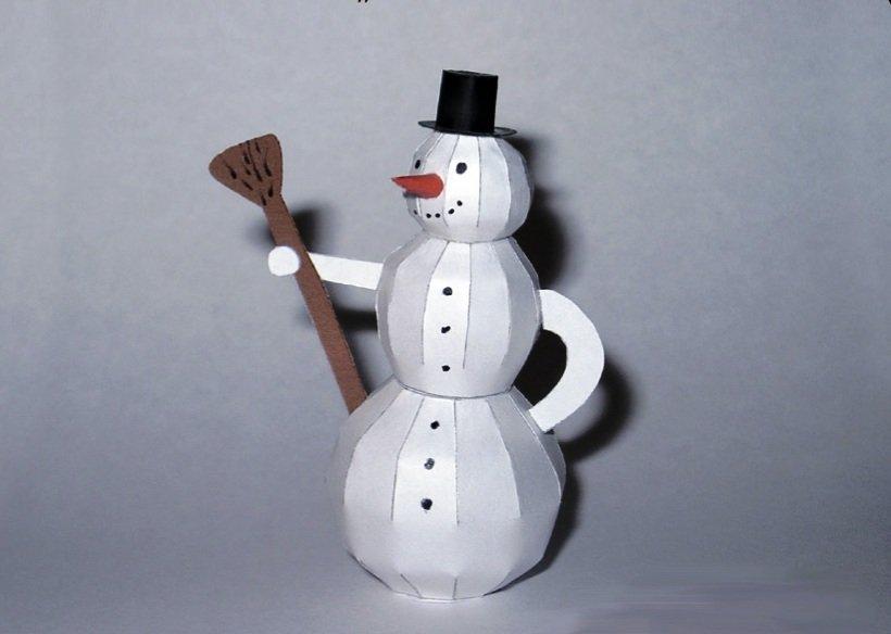 них фотографии снеговиков из бумаги через пару