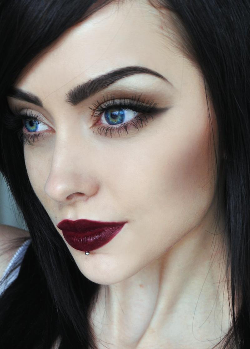 макияж красная помада тени
