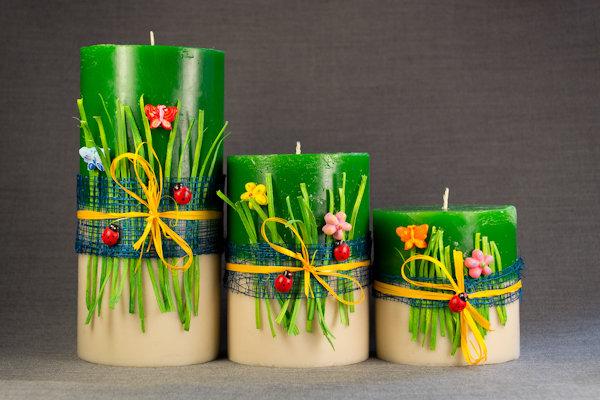 Свечи своими руками - Для летнего вечера