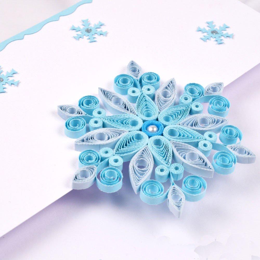 Новогодние открытки квиллинг мастер класс