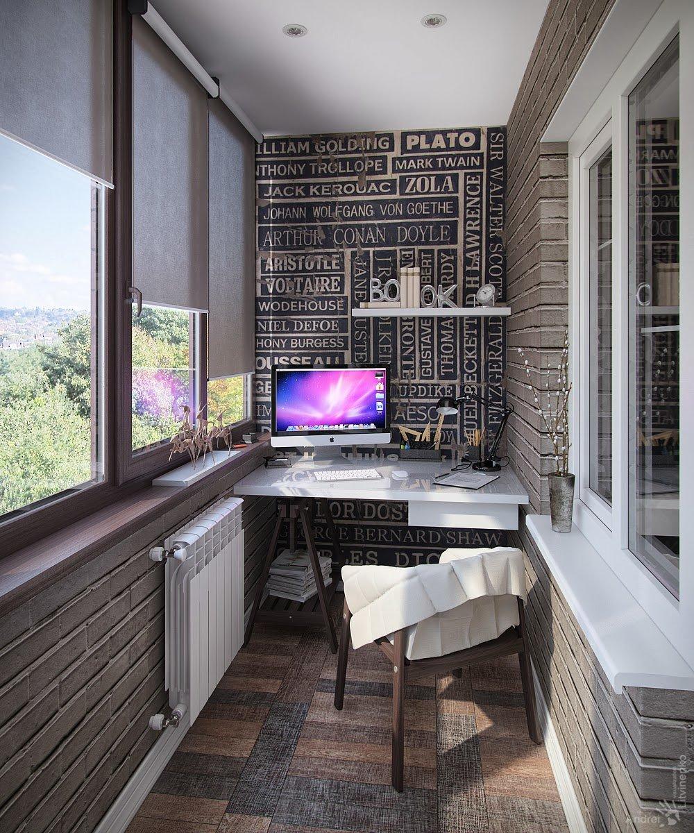 """Оформление балконного помещения в стиле лофт"""" - карточка пол."""