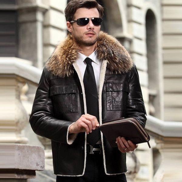Зимние кожаная куртка скидки