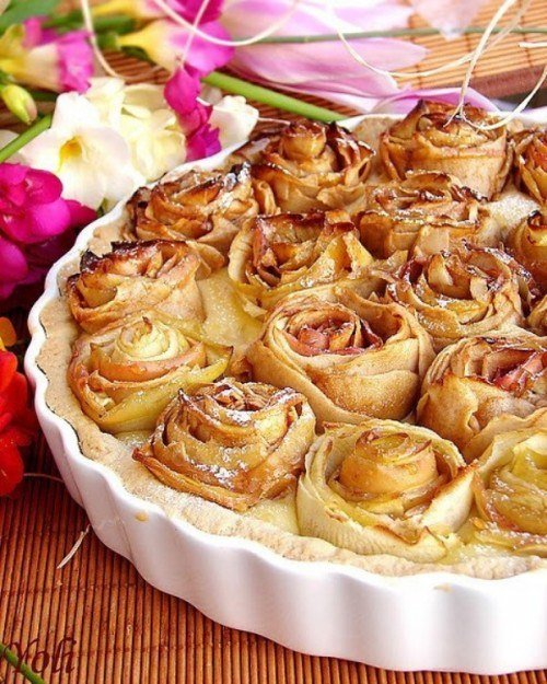 Розы из яблок | Праздник - вот он!