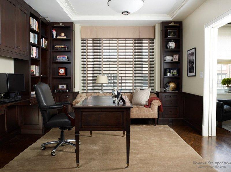 Роскошный домашний современный кабинет