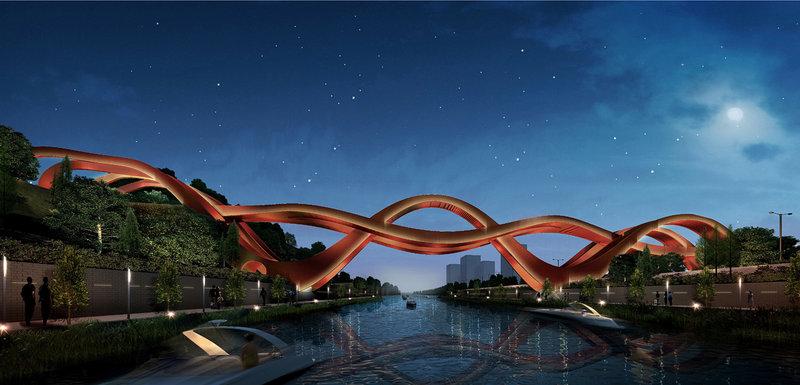 150-метровый мост уже в следующем году возвысится над озером в Чанше и определенно станет магнитом для туристов со всего света.
