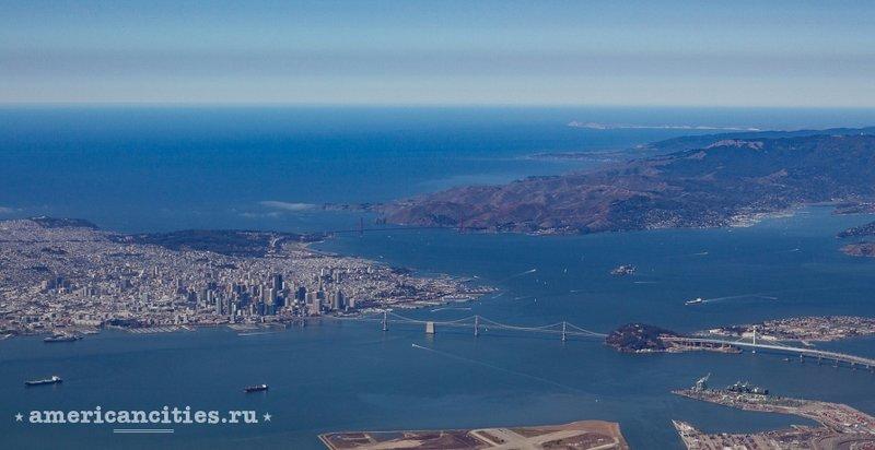 Вид на Сан-Франциско с высоты