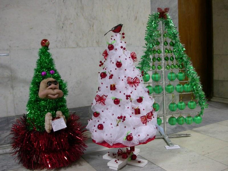 Новогодняя елочка своими руками на конкурс фото 331