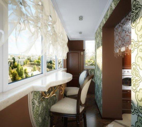 Интересные идеи для балкона. обустройство балкона в классиче.
