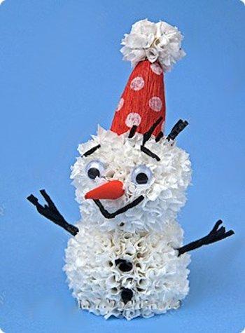 Как сделать снеговика. Снеговик своими руками. Схемы снеговиков ... новогодние поделки