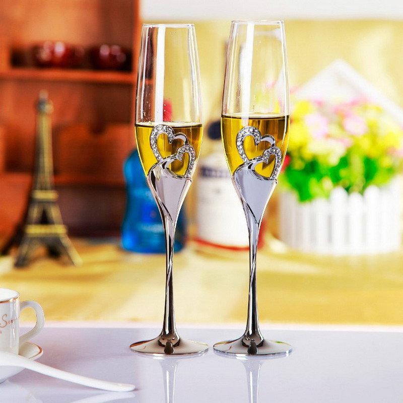 Здоровье, картинки свадебные бокалы и шампанское