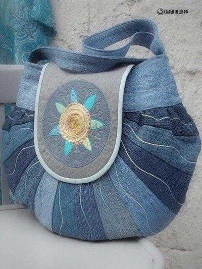 Женская сумка из джинсов 97