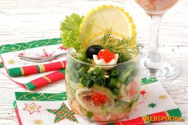 Фото салаты из рыбных коктелей