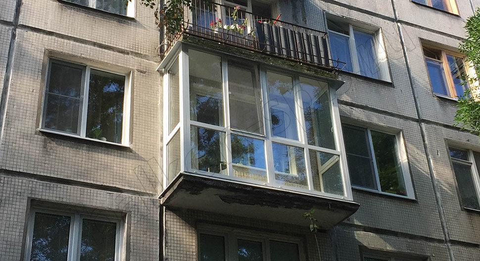 """Остекление балконов и лоджий панорамными окнами."""" - карточка."""