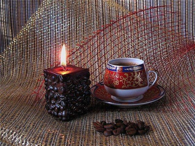 картинка с добрым утром со свечкой