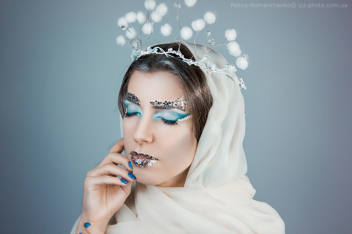 Фото макияжа для снегурочки