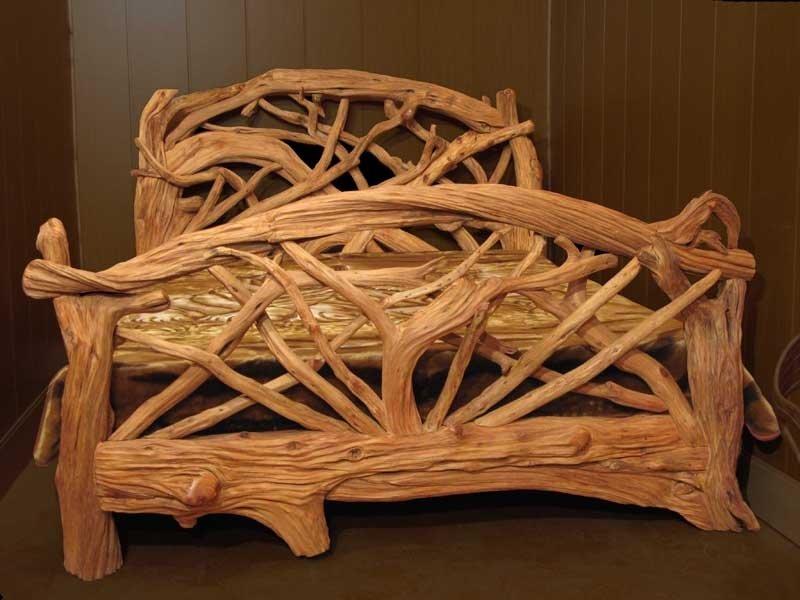 мебель из веток и коряг фото водные