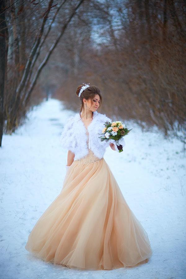 зимние наряды невесты