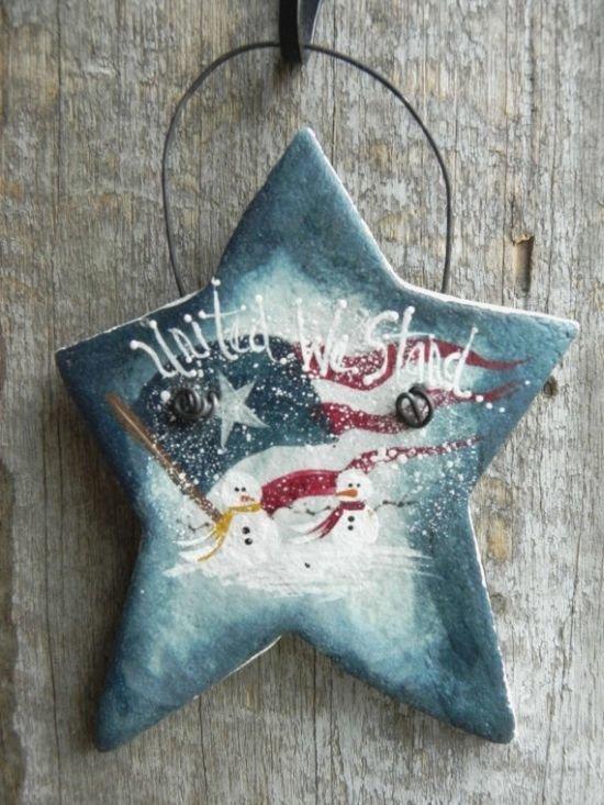 Поделки из соленого теста на Новый год в виде звезды
