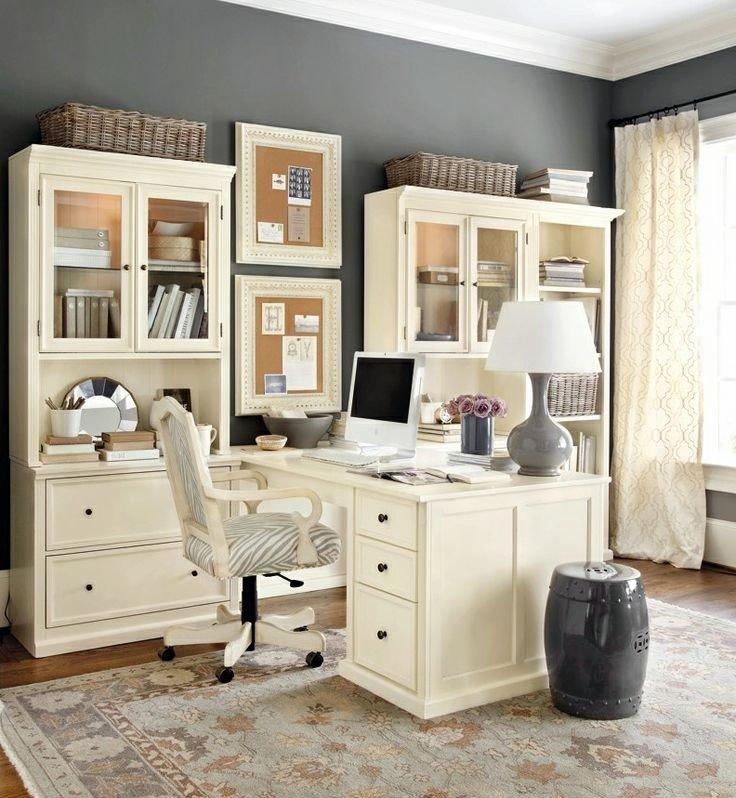 Домашние офисы, отмеченные элегантной женственной атмосферой — результат сочетания декоративных и функциональных элементов.