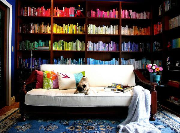 Книги в радужном интерьере | Sweet home