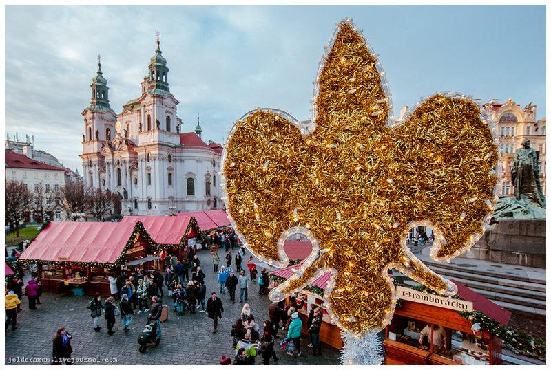 Фотографии рождественской Праги.