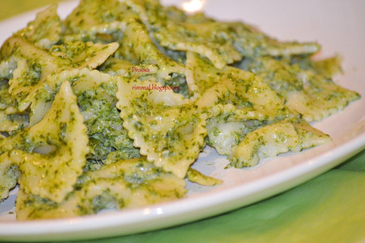 Паста со шпинатом рецепт