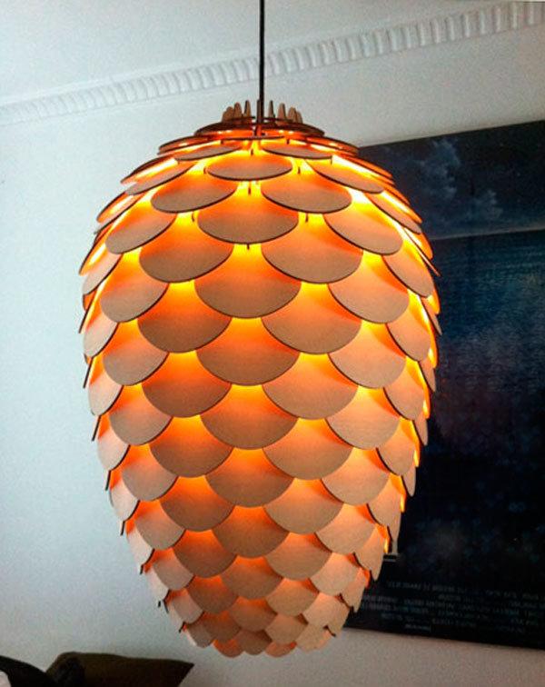 Светильники сделанные своими руками из дерева фото 733