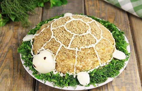Фото рецепт салата черепаха
