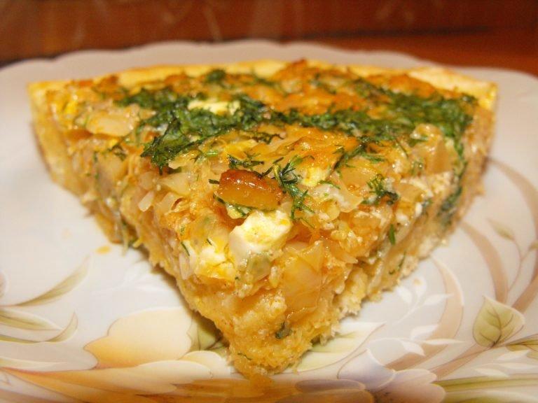 пирог с капустой свежей