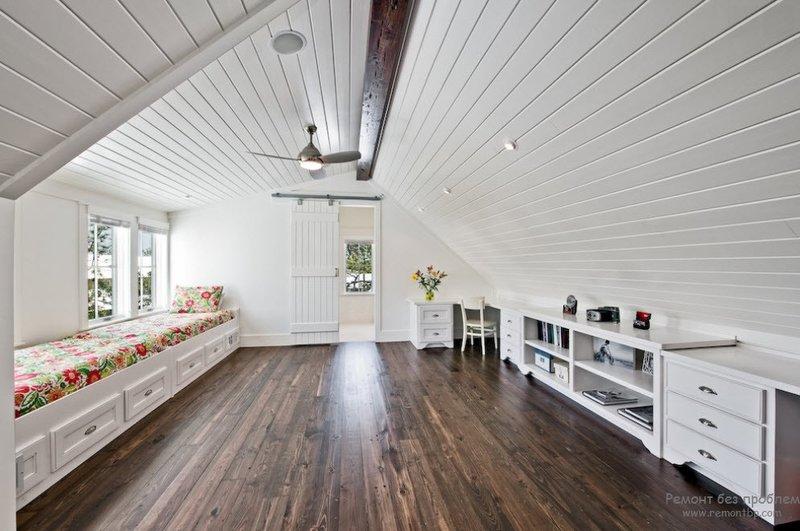 Как обустроить мансарду, варианты оформления комнаты под крышей. Современные, красивые и интересные дизайнерские решения чердачного интерьера на фото