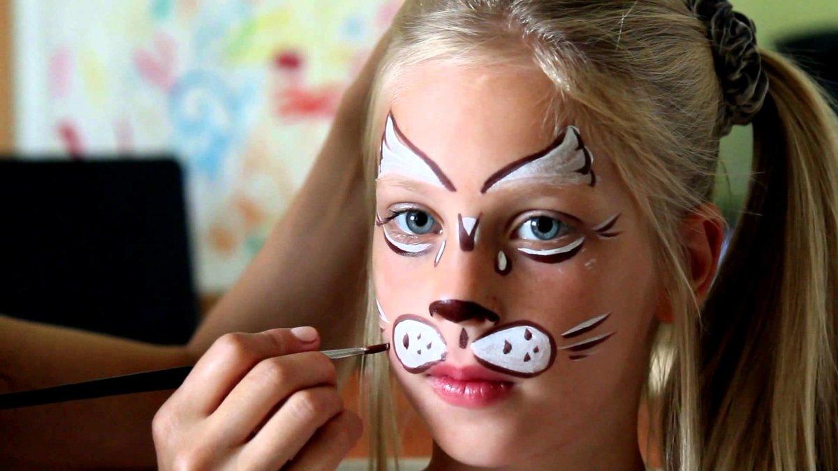 необходимо нарисовать рисунок на лице для начинающих сих пор