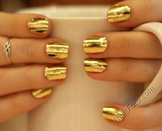 Фото ногтей золотой дизайн
