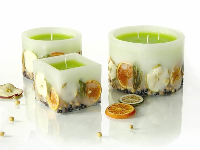 Свечи домашние своими руками из цитрусовых