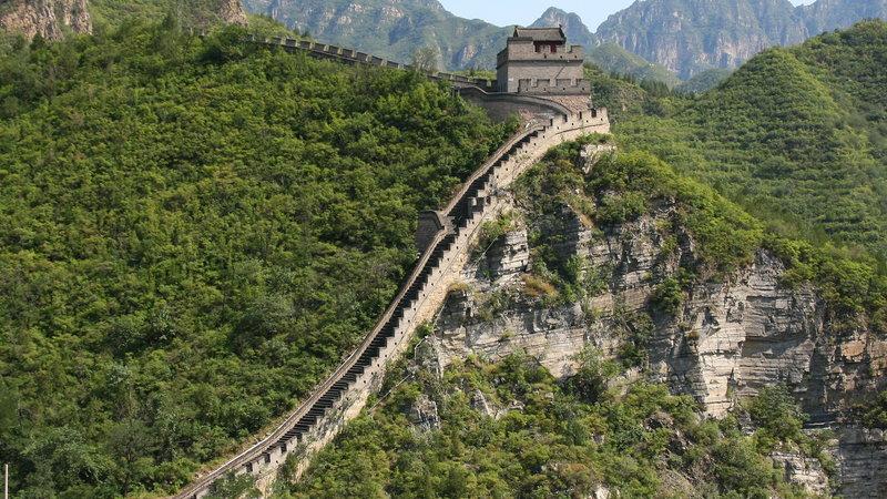 Великая Китайская стена в городе Пекин.