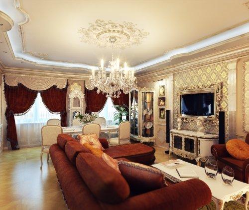 Как оформить гостиную комнату в стиле ампир.