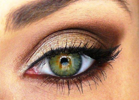тени для зеленых глаз среднего