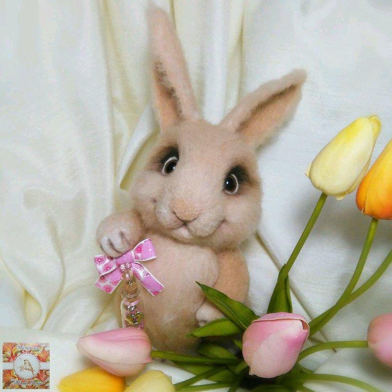 Купить Заяц Семен - Валяние, Сухое валяние, валяная игрушка, игрушка из шерсти, шерсть, заяц