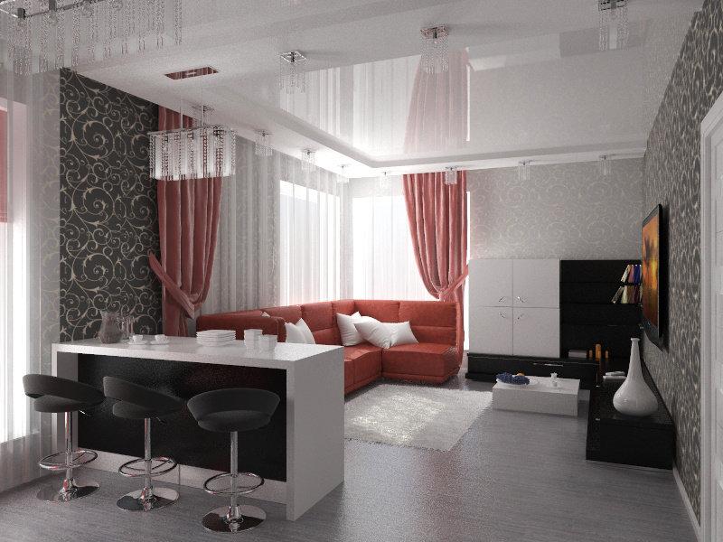отделка однокомнатных квартир фото применяется трансформаторных