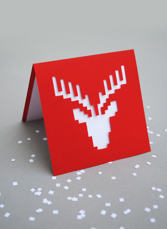 Простые открытки на новый год 2019