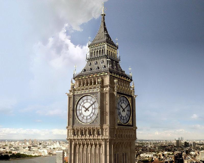 Одной из основных достопримечательностей является Биг Бэн – всемирно известные часы, определяющие наступление Нового года по Гринвичу