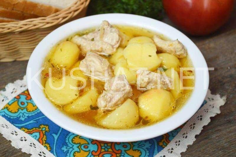 картошка тушеная с капустой и мясом в кастрюле пошаговый рецепт