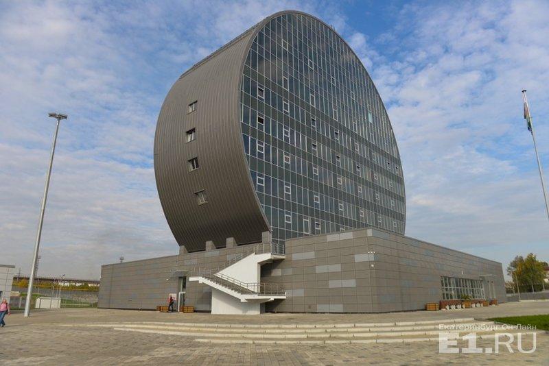 Инновационный культурный центр в  Первоуральске– ИКЦ, восьмиэтажное здание оригинальной формы.