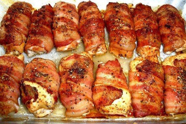 Рулетики из филе курицы в духовке