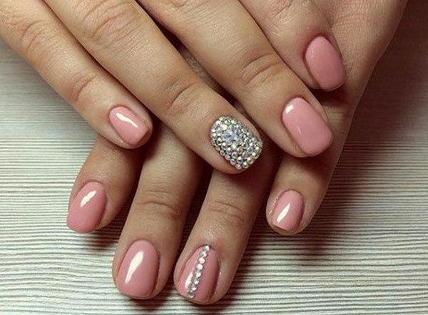 Розовый цвет дизайн ногтей фото