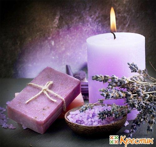 Лавандовые свечи