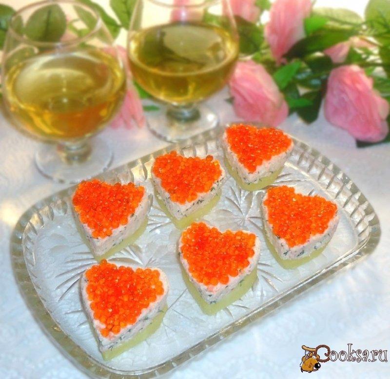 салат в виде сердца рецепт с фото небольшой